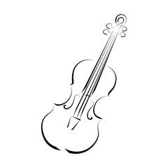 Violin. Graphic drawing. Logo, symbol.