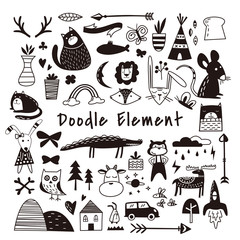 Beautiful doodle dingbat Elements Set