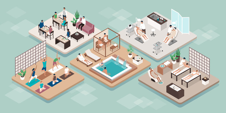 Wellness and beauty luxury spa treatments
