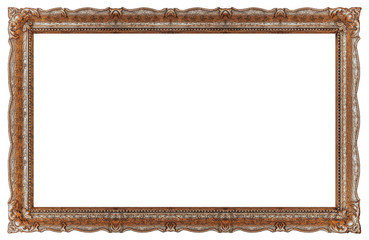 Extra big Old picture frame with empty background copy space - Stock image