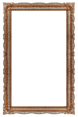 Big Picture frame with empty background copy space - Stock image