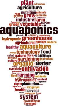 Aquaponics word cloud