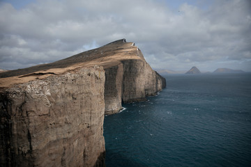 Big cliffs in Faroe Islands
