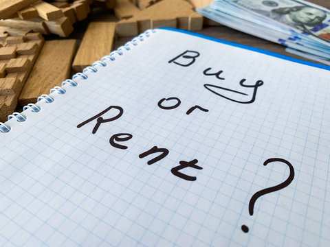 Buy or rent home. Real estate concept.