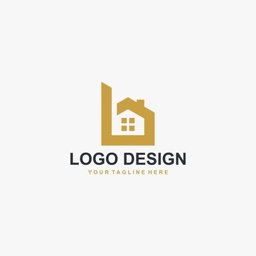 Letter B home logo design vector. Sign B house logo illustration. Logo design for real estate company business.
