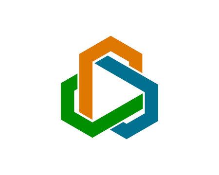 abstract hexagon 3