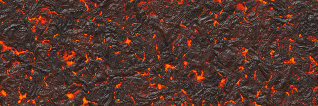 3d illustration. Volcano- background magma
