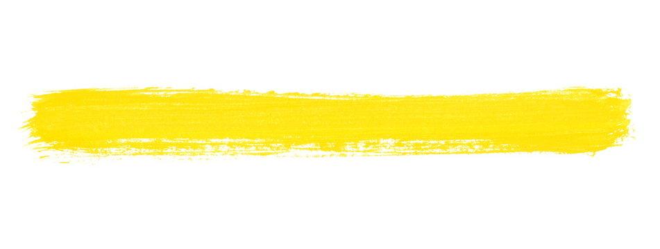 Breiter gelber Pinselstreifen als Banner