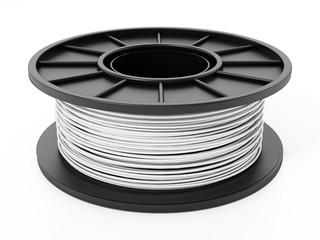 Fototapeta Generic new 3D filament isolated on white background. 3D illustration obraz