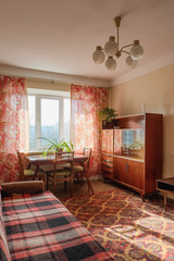Interior of typical soviet style apartment.