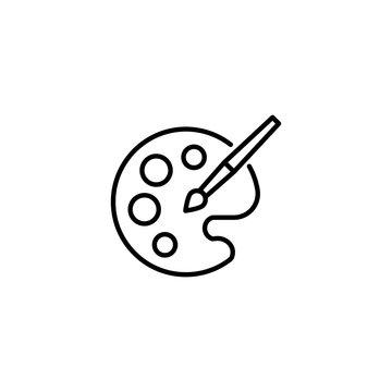 Simple palette line icon.