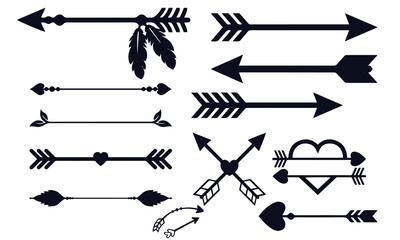 arrow decoration collection black and white