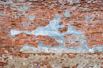 The destroyed brick wall for a background.