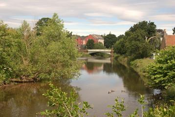 iron bridge over river Tyne, Haddington