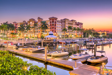 Naples, Florida, USA Town Skyline