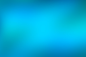 Blue and green water abstract background, cool water effect gradient background of bright vivid turquoise colour fading to blue