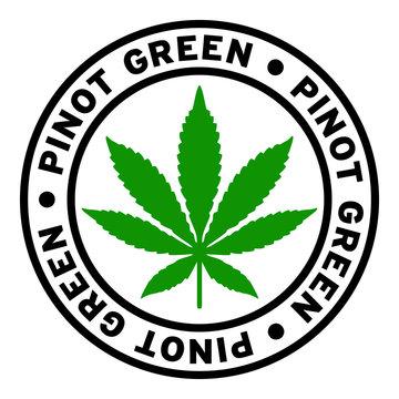 Round Pinot Green Marijuana Strain Clipart