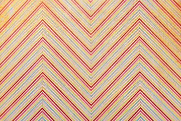Thématique noël vintage motif en zigzag coloré chevrons rouges et vertes