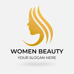beauty salon logo design with modern concepts on white background vector template