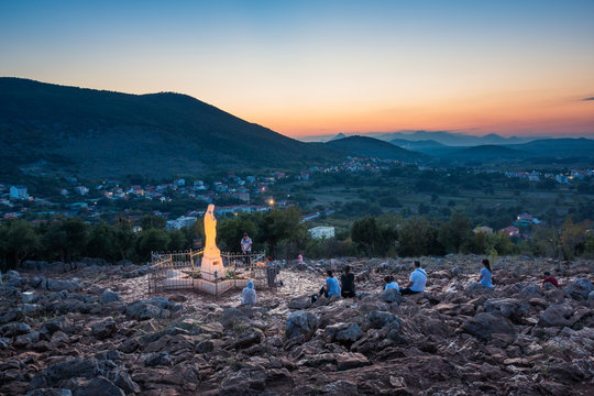 Statue of Virgin Mary in Medjugorje, Bosnia and Herzegovina