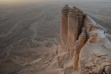 Edge of the World near Riyadh in Saudi Arabia