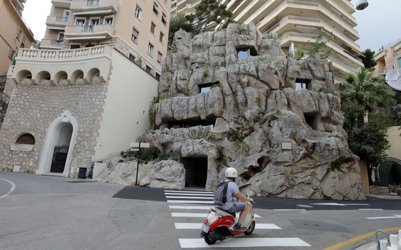 The luxurious ecological Villa Troglodyte, based on energy saving and the exploitation of natural energies is pictured in Monaco