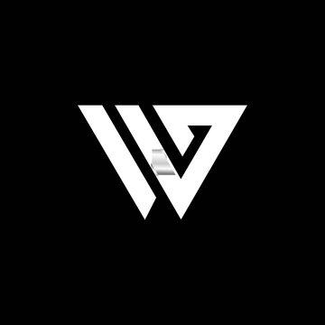simple typography WG vetor logo