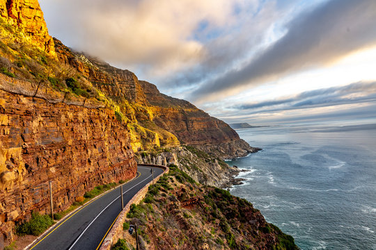 Chapman's Peak Drive in Cape Town, South Africa.