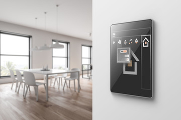 Smart home icons in dining room