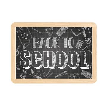 Vector school slate