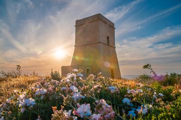 Malta. Lippija Tower. Maltese landmark.