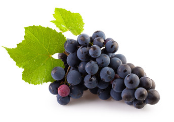 grapes isolated on a white background Fototapete