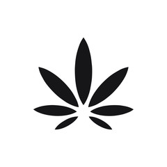 marijuana leaf icon. cannabis symbol vector design illustration