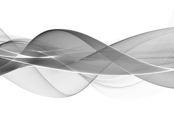 Obraz Abstract black and white fractal background - fototapety do salonu