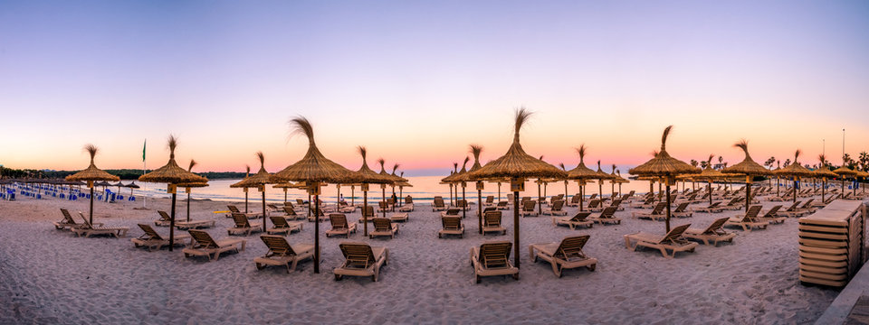 Strand von Sa Coma, Mallorca, Spanien