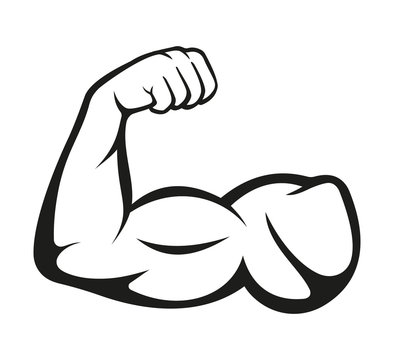Biceps. Muscle icon. Vector