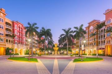 Fotomurales - Naples, Florida, USA Town Skyline