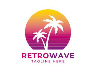 Retrowave Logo on White
