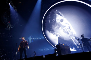 Mendes performs at Staples Center in Los Angeles