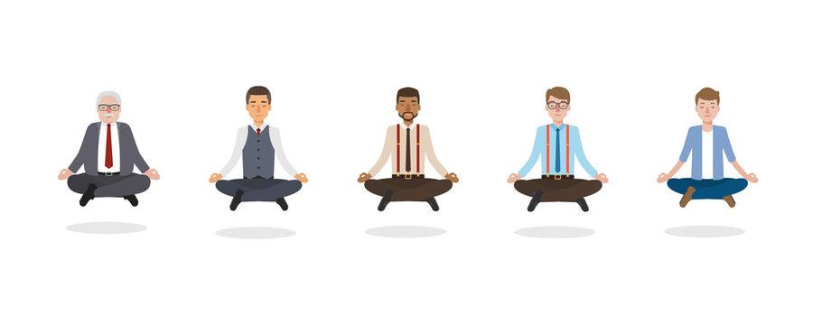 Businessmen meditation
