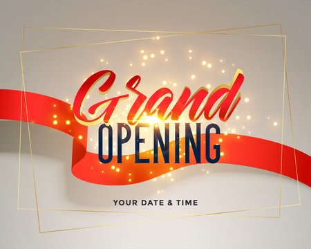 grand opening celebration flyer greeting background