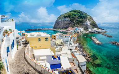 Wall Mural - Landscape with Sant Angelo village, coast of Ischia, italy