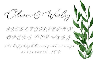 Script Alphabet For Wedding Invites