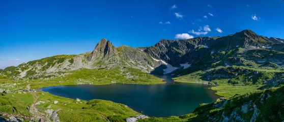 Fototapete - The trefoil lake, one of the seven rila lakes in Bulgaria