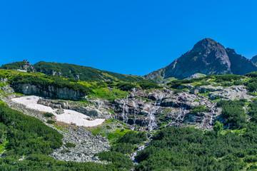 Wall Mural - Waterfall at rila mountains in Bulgaria