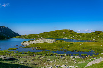 Wall Mural - The trefoil lake, one of the seven rila lakes in Bulgaria