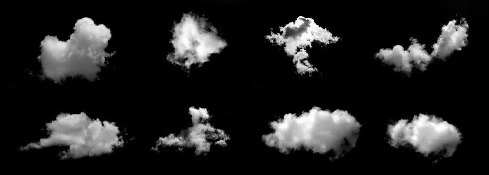 White cloud object for nature design summer background