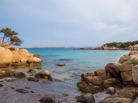 Spiaggia Capriccioli (Capriccioli Beach), Arzachena. In Sardinia, Italy