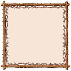 In de dag Draw Wood and Leather Frame Vector Background