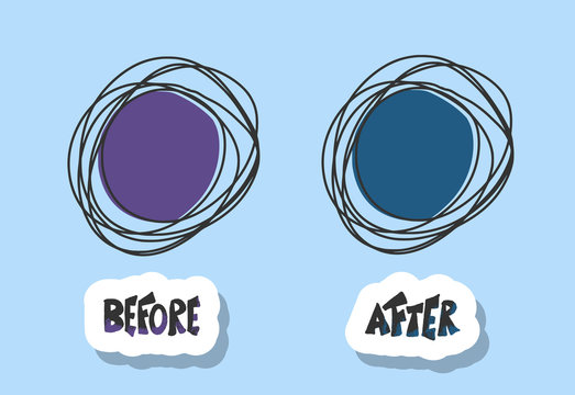 Before and after template. Vector illustration.